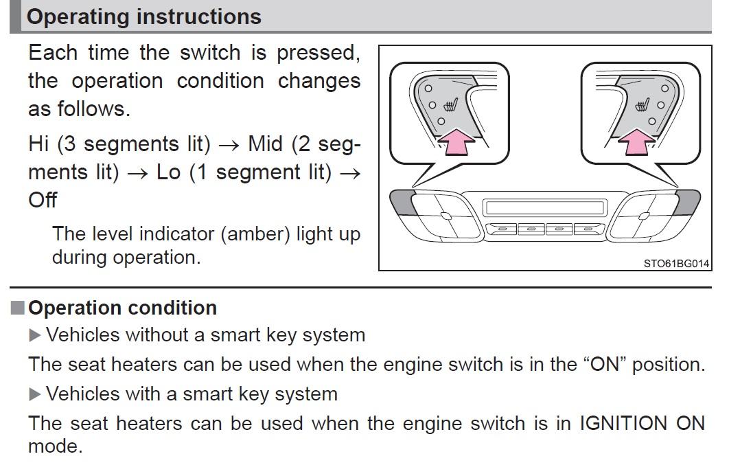 Seat heaters - Toyota C-HR Forum